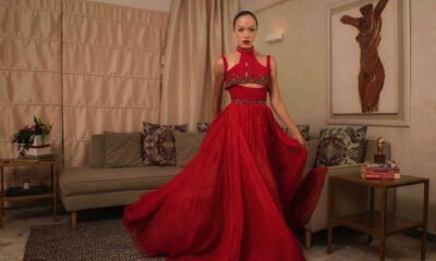 Eku Edewor ravished in red in a social media post shared on Christmas Day