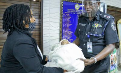 The Lagos State Police Command has rescued aday-old baby on Monday, March 15, 2021