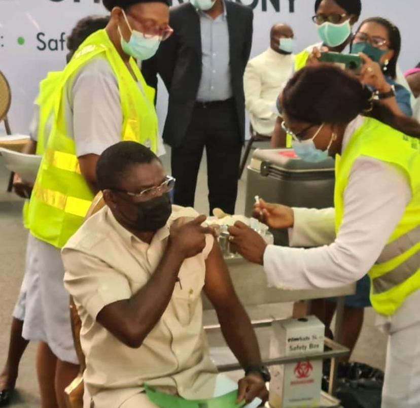 Edo State Governor, Obaseki And Others Receive First Dose of COVID-19 Vaccine