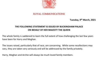 Royal Family responds to Meghan Markle And Prince Harry's Oprah interview