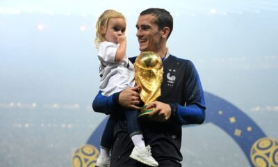 Antoine Griezmann has become a father for the third time. All of his children were born on the same day